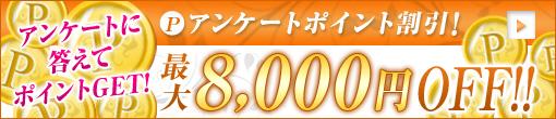 ◆【アンケートポイント割引★最大8,000円引き】◆